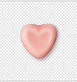 realistic abstract pink candy heart icon template vector image
