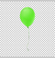 realistic green balloon icon vector image vector image