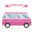 Rv Travel Family Bus Icon In Flat vector image vector image