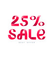 sale 25 percent off vector image vector image