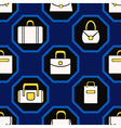 seamless background with woman bags for vector image vector image