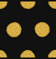 seamless pattern with gold drawn dots vector image