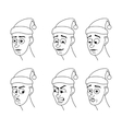 Set of cartoon face emotions vector image vector image