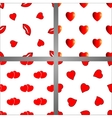 Set of four seamless backgrounds with hearts vector image vector image
