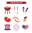 set patriotic icons independence day america vector image vector image