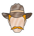 silhouette man cowboy wear hat image vector image vector image