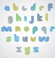 Simple shape color letters font with hand drawn vector image vector image