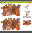 spot differences game with bears vector image vector image