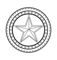 star medal shape vector image