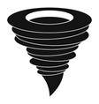 storm hurricane icon simple style vector image