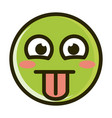 stuck out tongue funny smiley emoticon face vector image