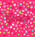 summer floral banner vector image vector image