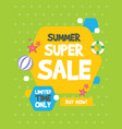 summer sale banner birthday party vector image vector image