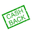 text cash back in frame rubber stamp vector image vector image