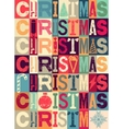 Typographical vintage style Christmas card vector image vector image