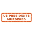 Us Presidents Murdered Rubber Stamp vector image vector image
