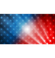 usa flag colors stars and rays abstract vector image vector image