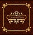 vintage luxury background with retro elements vector image vector image