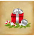 Xmas With Gift vector image vector image