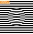 A black and white geometrical distortion optical vector image