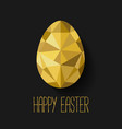 Flat design polygon of golden egg isolated vector image