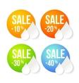 Summer sale design set vector image