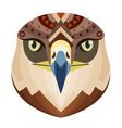 eagle head logo monkey decorative emblem vector image