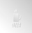 Icon flat element design coffee vector image