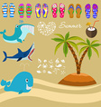 Summer background and design elements vector image