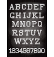 vintage font written chalk on the wooden board vector image