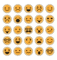 Emoticons Set of characters in different emotions vector image