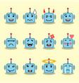 emojis flat robot set vector image