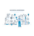 success work communication dealings leadership vector image