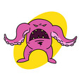 tentacle monster vector image