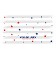 4th july independence day stars background vector image vector image