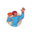 American Football Quarterback Throwing Ball vector image