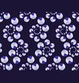 art deco seamless pattern with circles in violet vector image vector image