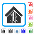 bamboo house framed icon vector image vector image