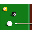 Billiards sport game background vector image