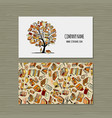 books library business card design vector image vector image