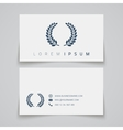 Business card template Laurel concept logo vector image