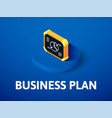 business plan isometric icon isolated on color vector image vector image