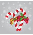 Candy canes background2 vector image vector image