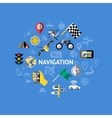 Car Navigation Composition vector image vector image