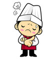 chef character is idea never crosses my mind vector image