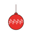 christmas ball hanging decoration celebration vector image