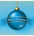 Christmas ball isolated vector image vector image