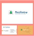 christmas tree logo design with tagline front vector image vector image