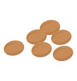 coffee beans icon isometric style vector image vector image