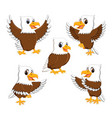 collection of the dashing eagle vector image
